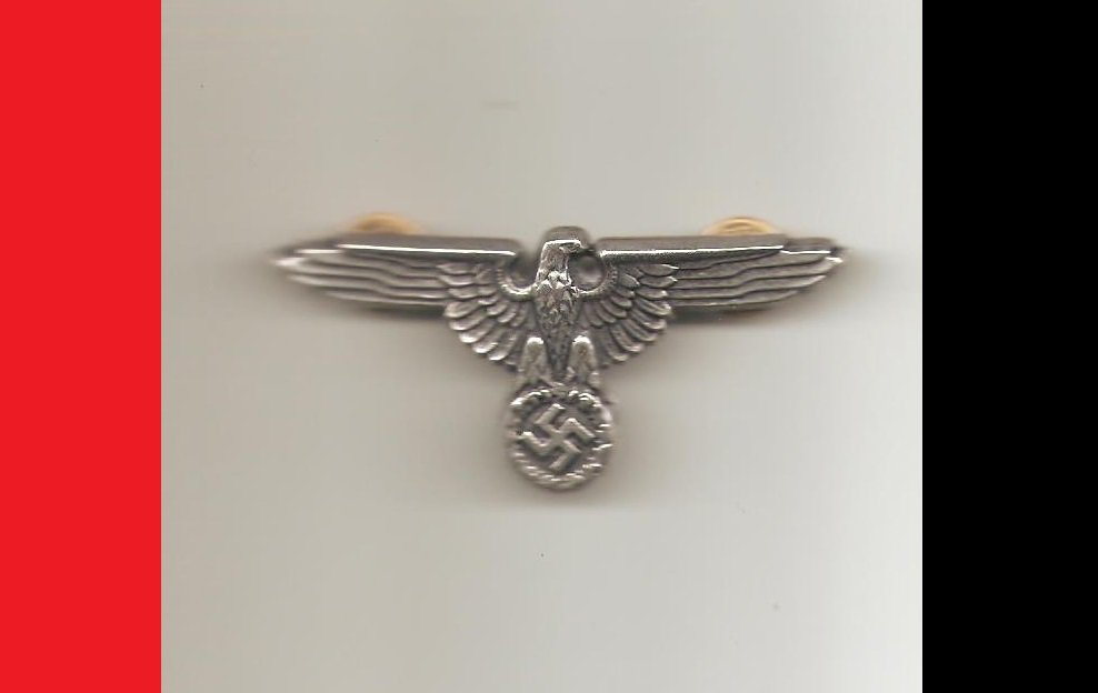 WW2 Germany Nazi Officer's Coat of Arms Eagle & Swastika Hat Emblem