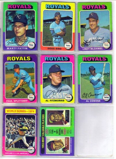 1975 TOPPS MARTY PATTIN #413 ROYALS