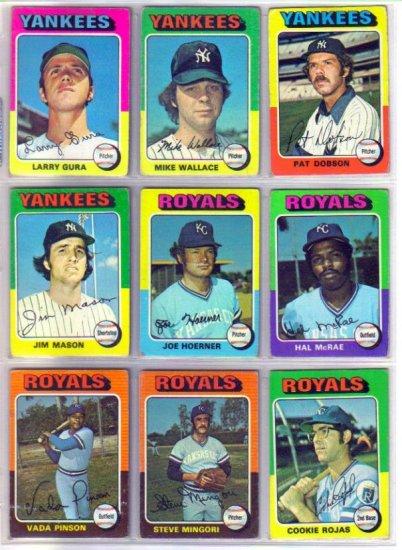 1975 TOPPS STEVE MINGORI #544 ROYALS