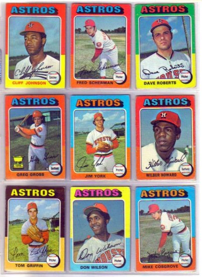 1975 TOPPS DON WILSON #455 ASTROS