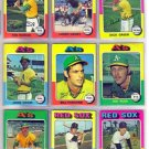 1975 TOPPS RAY FOSSE #486 ATHLETICS
