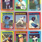 1975 TOPPS BILL TRAVERS #488 BREWERS