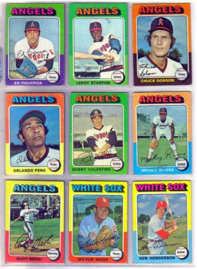 1975 TOPPS MICKEY RIVERS #164 ANGELS