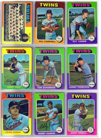 1975 TOPPS MINNESOTA TWINS #443 TEAM CARD