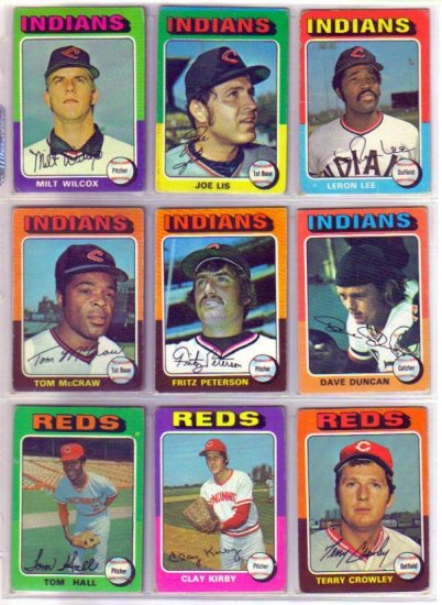 1975 TOPPS FRITZ PETERSON #62 INDIANS