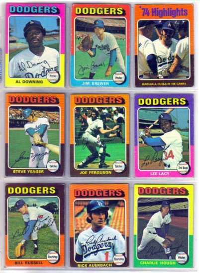 1975 TOPPS MIKE MARSHALL #6 DODGERS