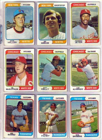 1974 TOPPS JIM McGLOTHLIN #557 WHITE SOX
