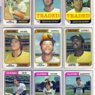 1974 TOPPS TRADED FRED SCHERMAN #186T ASTROS
