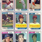 1974 TOPPS TRADED PETE RICHERT #348T CARDINALS