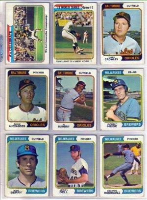 1974 TOPPS KEN BERRY #163 BREWERS