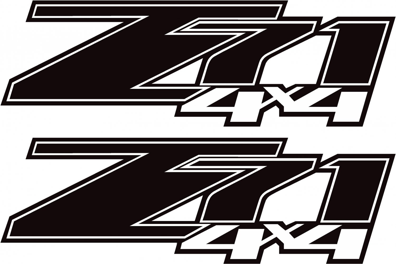 Chevy Gmc Z71 Off Road 4x4 Truck Decal Sticker X2