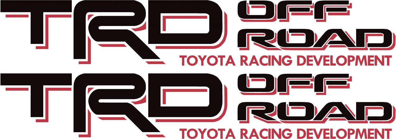 Toyota TRD Off Road 4x4 Tundra/Tacoma Sport Truck Decal/Sticker X2!