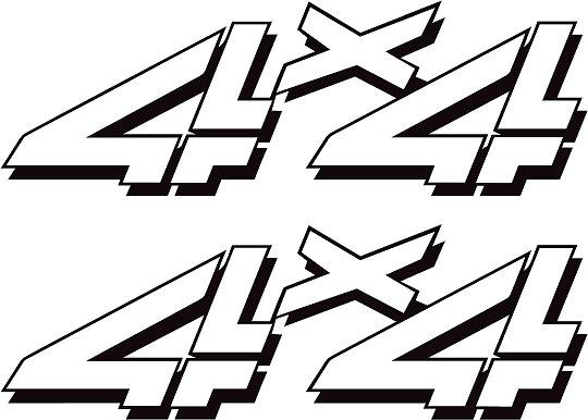 chevy  ford  gmc 4x4 truck decal  sticker x2