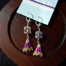Krystal lantern fringe earrings