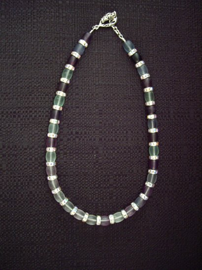 Emmy shaded fluorite necklace