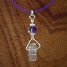 David Christensen Grape furnace glass wheel necklace