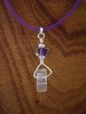 David Christensen Grape furnace glass wheel necklace