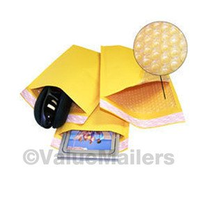 "2000 #000 4x8 "" Valuemailers Brand "" Kraft Bubble Mailers Padded Envelopes Bags"