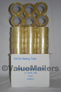 """144 Rolls Clear 2ml Box Carton Sealing Tape 2x110 Yards 2"""" x 110 Yards Per Roll"""