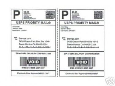 """200 XL SHIPPING POSTAGE LABELS 8.5"""" x 5.5"""""""