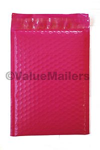100 #5 ( Pink ) Poly Bubble Mailers Envelopes Bags 10.5x16  Colors Stand Out
