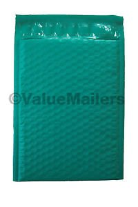 100 #2 ( Green ) Poly Bubble Mailers Envelopes Bags 8.5x12  Colors Stand Out