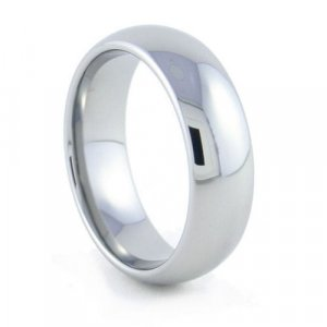 Serenity - 7mm Domed Tungsten Carbide Band