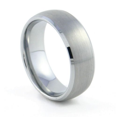 Manhattan - 8mm Domed & Brushed Tungsten Carbide Band