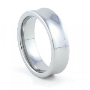 Olympia - 7mm Concave Tungsten Carbide Band