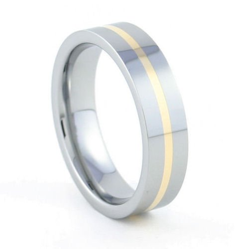 Eternity - 6mm 18K Gold Inlaid Tungsten Carbide Band