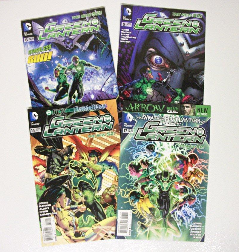 Green Lantern 4 issue lot VF-NM New 52 - 8 9 14 17 johns mahnke DC Comics 2012