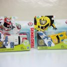 Autobot Ratchet & Bumblebee Lot of 2 Transformers Robots in Disguise 1 step changers figures 2015