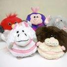2006 Mushabelly Chatter plush Lot of 5 animals Elephant, Bird, Bug, Bunny & Horse Jay At Play