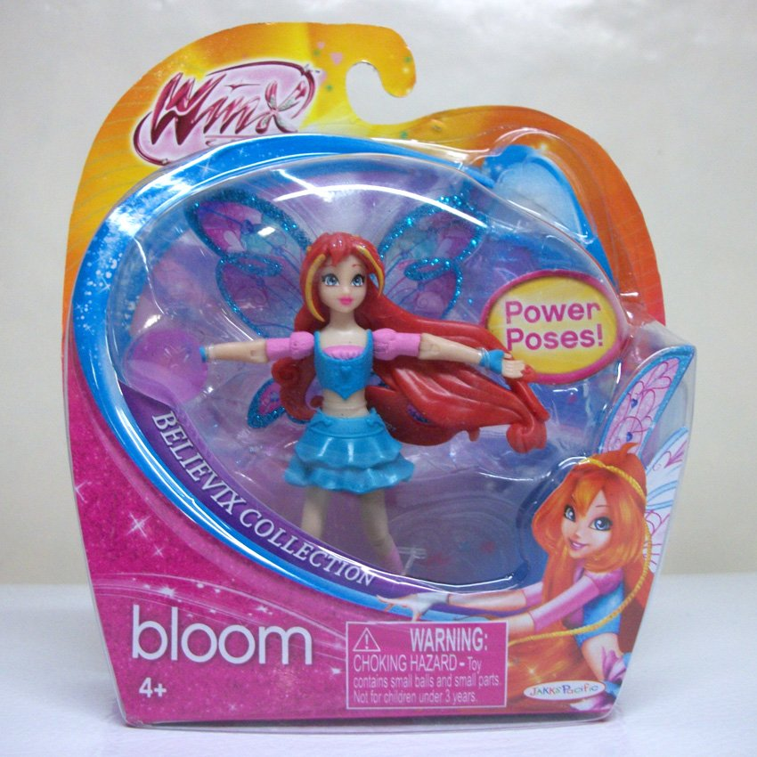 "Winx Club Bloom 3.75"" fairy Believix Collection figure doll nickelodeon Jakks Pacific 2012"