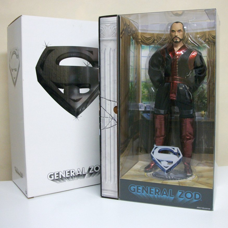 """Superman General Zod 12"""" figure adult collector doll DC Comics movie terence stamp Matty Mattel 2009"""