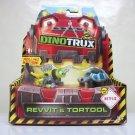 DinoTrux Revvit & Tortool 2-pack diecast toys dreamworks netflix turtle chemeleon Mattel 2015