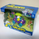 2009 Smurfette's vehicle Smurfs action figures mushroom car set Play Along Jakks Pacific