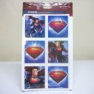 Superman sticker sheets 4-pack Man of Steel movie unopened Hallmark Party 2013