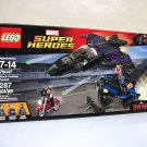 Lego Black Panther Pursuit 76047 Civil War Captain America set Marvel Heroes 3 mini figures 287 pc