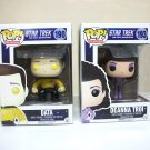 Star Trek: TNG Data & Deanna Troi Pop! Funko Lot of 2 190 193 the next generation tv show 2015