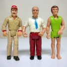 Lot of 3 Fisher Price Adventure People vintage tv reporter diver Tonka truck driver FP 1974 1976