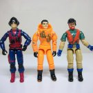 G.I. Joe Lot of 3 Outback Long Arm Scrap Iron vintage gijoe cobra figures Hasbro 1980s 1990s