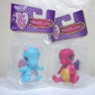 Ever After High Dragon Games Lot of 2 pink blue pets cute baby dolls bobble wings Mattel