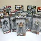 "The Walking Dead 5"" Lot of 10 figures Series 4-9 AMC tv rick michonne McFarlane Toys 2013"