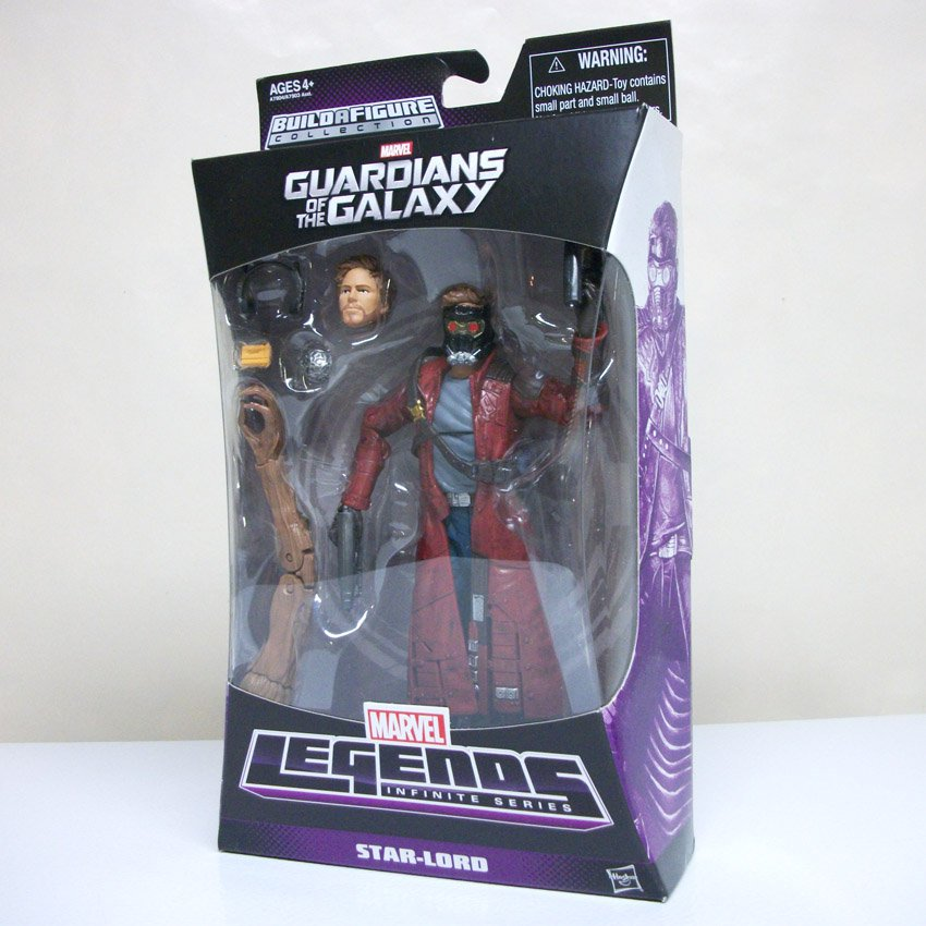 """Marvel Legends 6"""" Star-Lord groot BAF series gotg Guardians of the Galaxy peter starlord Hasbro 2014"""