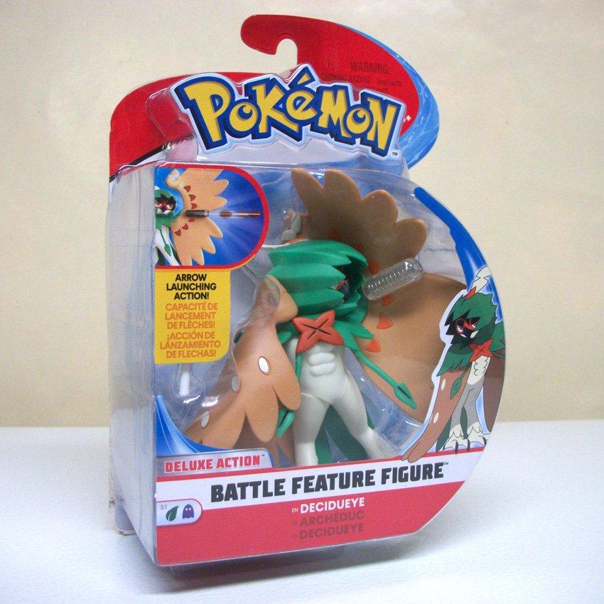 Pokemon Battle Feature Decidueye figure owl deluxe action arrow launch toy nintendo Wicked Cool 2018