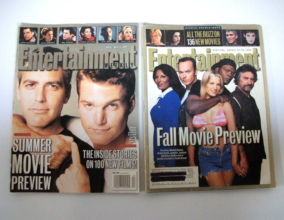 Summer Fall 1997 Movie Preview EW double issue 379 393 clooney jackie brown entertainment weekly