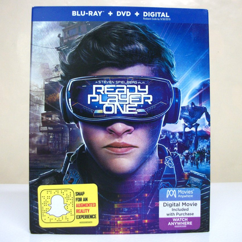 Ready Player One Blu-ray DVD sealed new PG-13 action sci-fi pop culture movie Warner Bros 2018