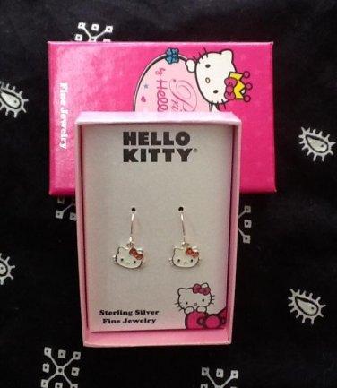 Hello Kitty Sterling Silver Dangling Earrings