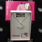 Hello Kitty with Rhinestone Crown Sterling Silver Necklace
